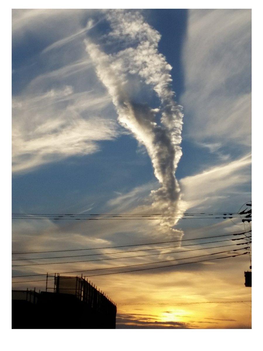 神奈川上空にメッチャ地震雲出てる