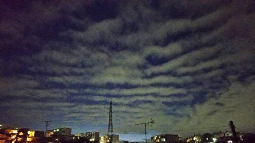 あれって地震雲かな