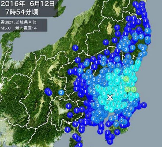 茨城県震度4