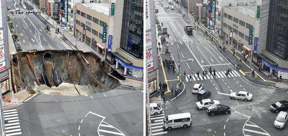 【博多駅前陥没】周辺店舗経営者が賠償金を次々辞退「東日本大震災や熊本地震と比べたら大した事ない」
