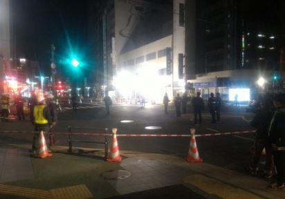 博多駅前で再び道路7センチほど沈み込む 交通規制は解除
