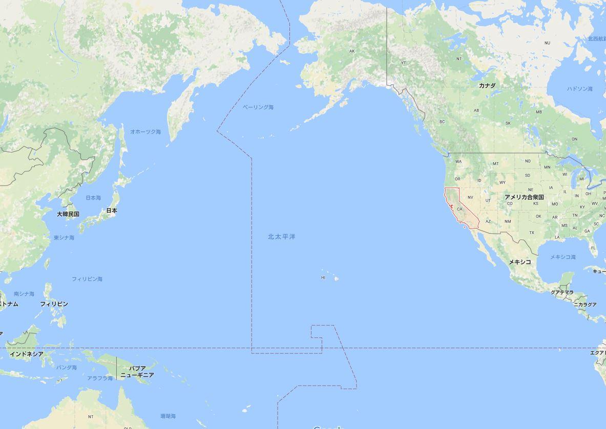 カリフォルニア沖で地震