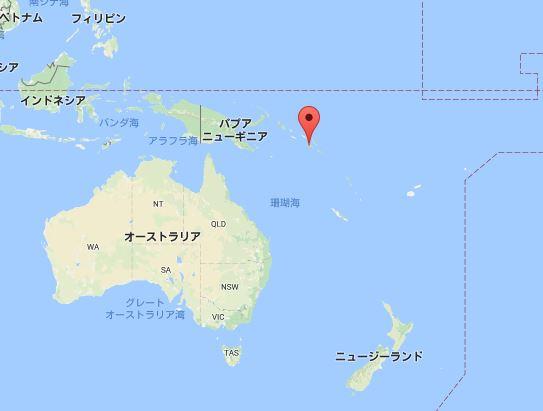 ソロモン諸島で地震